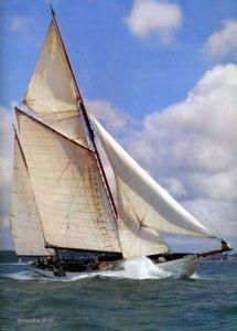 Cynara under sail