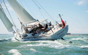 Oyster 825 Polina Star 111 Under sail prior to sinking