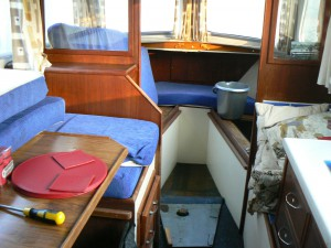 Nirvana 30 Interior view with water damage